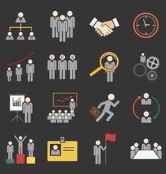Human resource icon vector