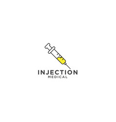injection and needle graphic design template vector image