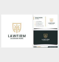 Law firm attorney pillar logo design with crown vector