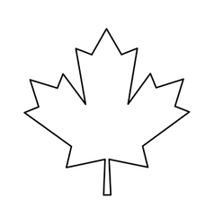 Maple leaf green sign canadian outline vector