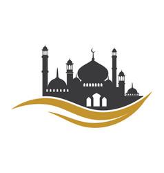 Moslem icon vector