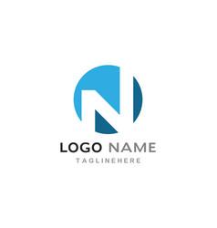 n letter logo business vector image