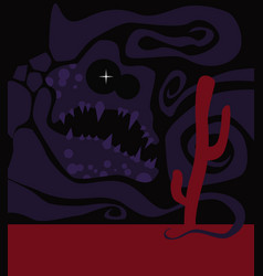 Nightmare terrible monster from an unknown world vector