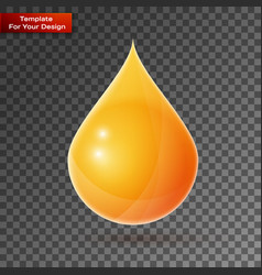oil drop on transparent background vector image
