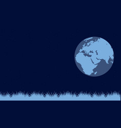 on blue background earth day vector image