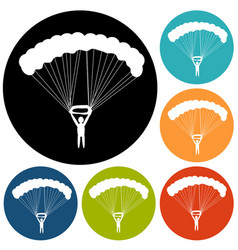 parachute icon vector image