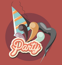 party hat design vector image