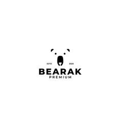 Polar bear head face icon logo design vector