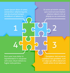 Puzzle infographic background vector