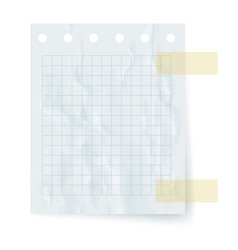 Realistic square paper sheet element vector