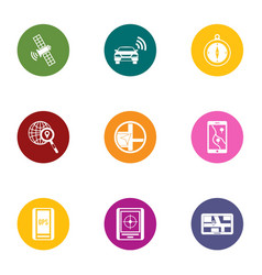 Remote maintenance icons set flat style vector