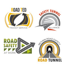 road and highway isolated symbol set vector image
