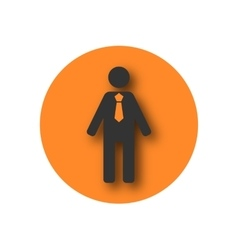 Round icon biznessmen vector image