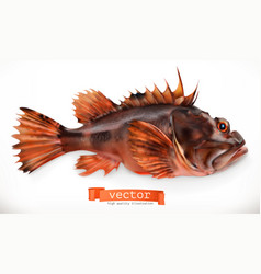 Scorpionfish 3d icon seafood realism style vector