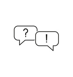set question and answer icons vector image
