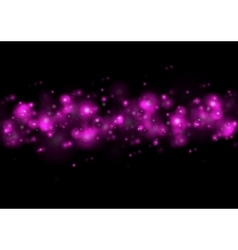 Shiny purple lights abstract bokeh vector image