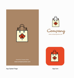 shopping bag company logo app icon and splash vector image