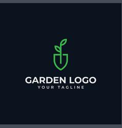 shovel leaf garden botany nature seed plant line vector image