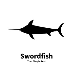 silhouette of swordfish vector image