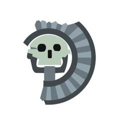 Skull god death aztecs icon flat style vector