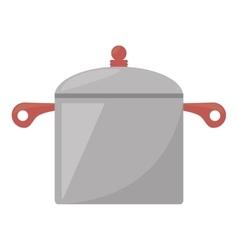 steel pot kitchen and cooking utensils vector image