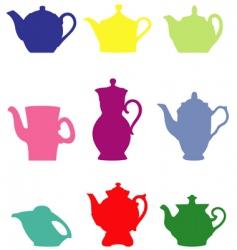 Teapots vector
