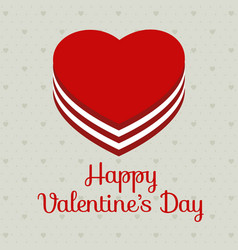 valentines day card with pattern background vector image