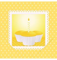 vintage cupcakes vector image