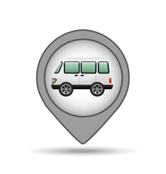 Wagon car icon map pointer design vector