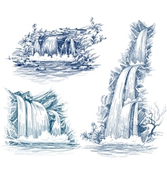 Water fall vector