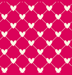 white hearts connected with lines on pink vector image