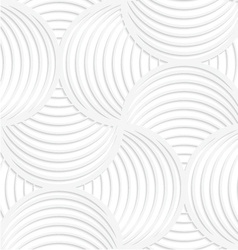 White paper 3D slim stripes circle pin will vector image
