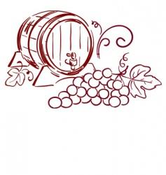 Wine barrels vector
