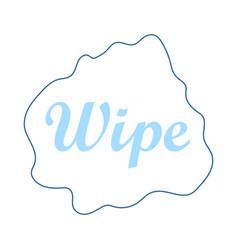 Wipe cloth icon vector