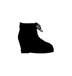 women platform shoe icon black on white background vector image