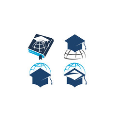 world education template set vector image