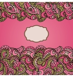 Abstract ethnic pattern cardCute vector image vector image