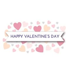 Valentine pastel hearts vector