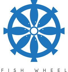 abstract design of fish and wheel vector image vector image