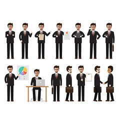 businessman people characters vector image