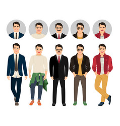 handsome guy in casual and business vector image vector image