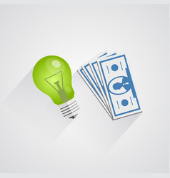Idea of money vector