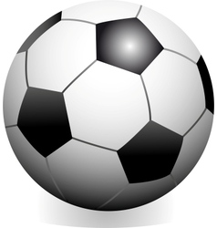 soccer game ball vector image vector image
