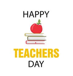 typography banner happy teacher s day vector image vector image