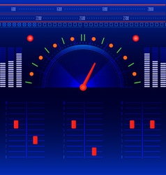 Abstract radio and music panel vector image