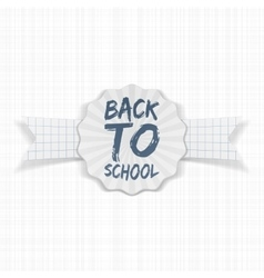 Back to school label with white ribbon vector