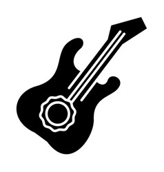 guitar icon black sign on vector image vector image