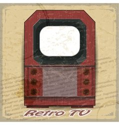 Retro TV on a vintage background vector image vector image