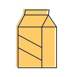 milk box isolated vector image