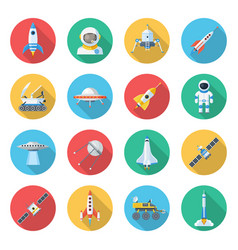 space ship icon set vector image vector image
